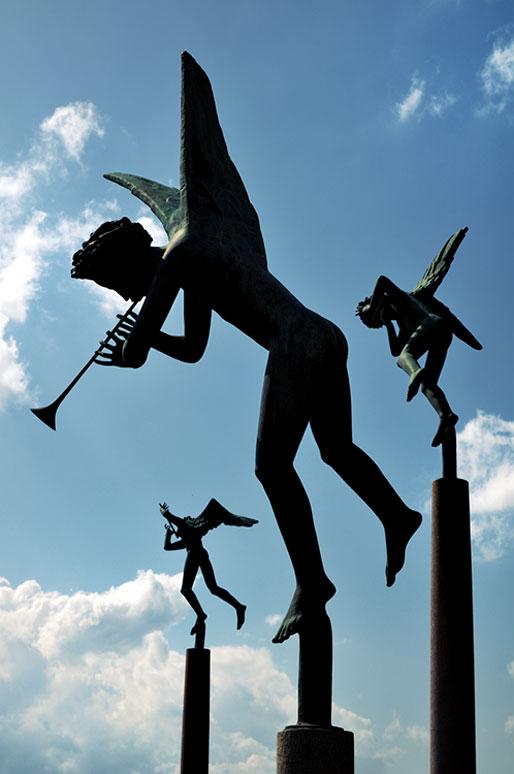 Sculptures des anges musiciens à Stockholm par Carl Milles, Suède