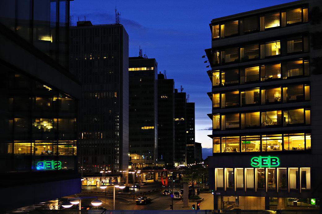 Bâtiments au centre de Stockholm, Suède
