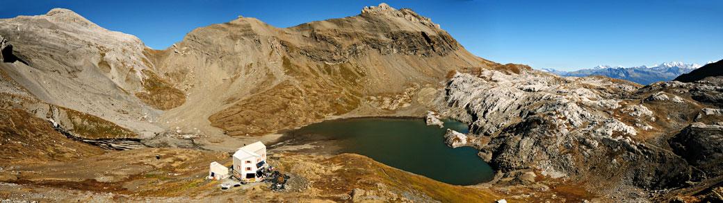 Cabane des Audannes dans le canton du Valais, Suisse