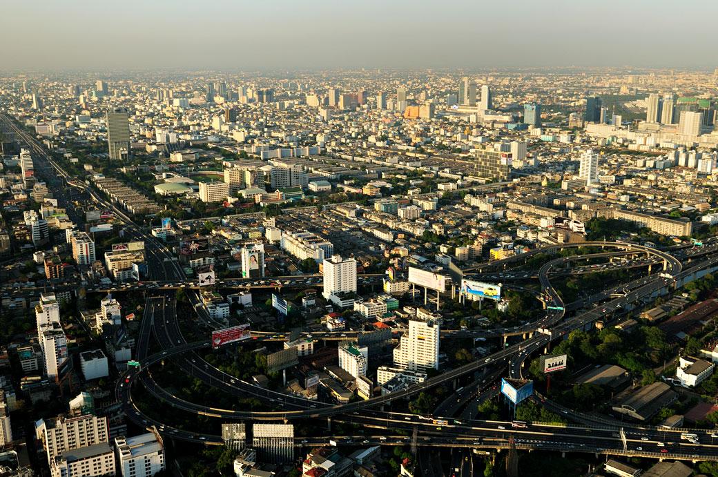 Bangkok vue depuis Baiyoke Tower II, Thaïlande
