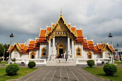 Wat Benchamabophit ou temple de marbre à Bangkok, Thaïlande