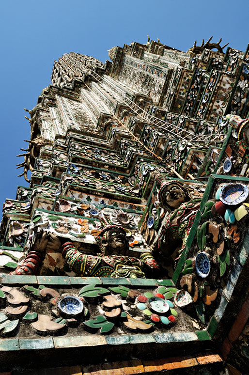 Sommet du Wat Arun à Bangkok, Thaïlande