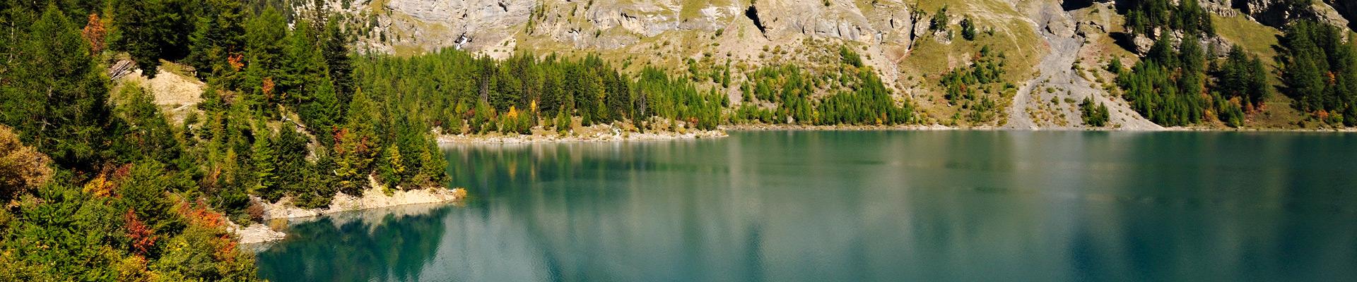 Top image Lac de Tseuzier en Valais, Suisse
