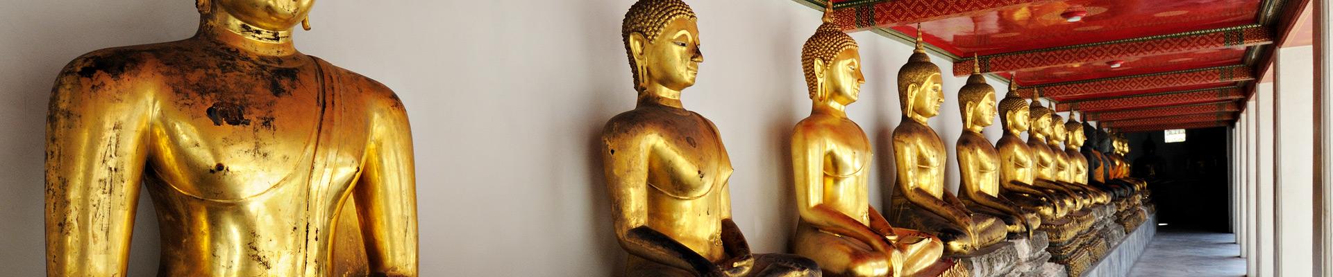 Top image bouddhas au Wat Pho de Bangkok, Thaïlande