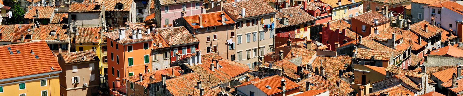 Top image toits de Rovinj en Istrie, Croatie