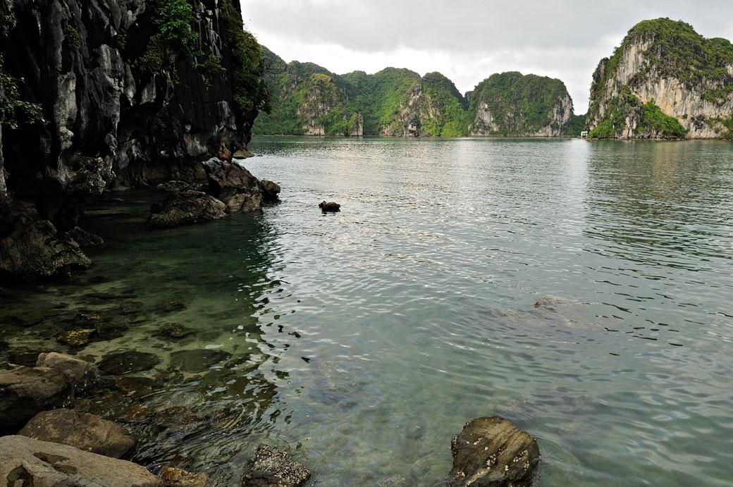 Crique dans la baie d'Halong, Vietnam