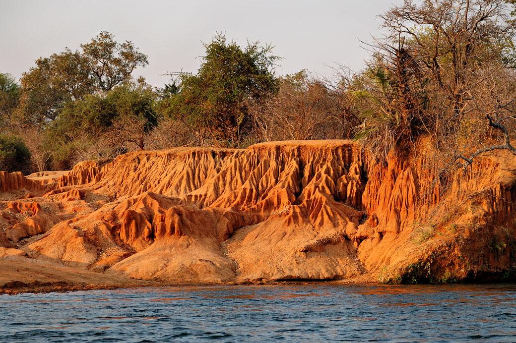 Érosion sur les berges du Zambèze, Zambie